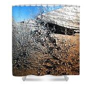 Stony Bush Abstract Shower Curtain