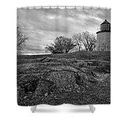 Stony Point Lighthouse Shower Curtain