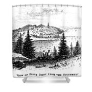 Stony Point, New York Shower Curtain