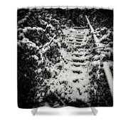Stony Steps Covered With Snow Shower Curtain