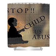 Stop Child Abuse Shower Curtain