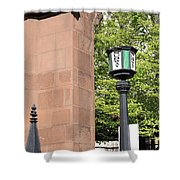 Stop Here Shower Curtain