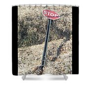 Stop Sign 1 Shower Curtain