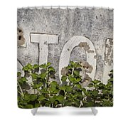 Stop Sign Shower Curtain by David Gordon
