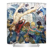 Stop The Draft Mural Berkeley Ca 1977 Shower Curtain