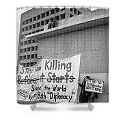 Stop The Killing Say No To Israel Anti-war Protestors Tucson Arizona 1991 Shower Curtain