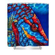 Stoplight Parrotfish Shower Curtain