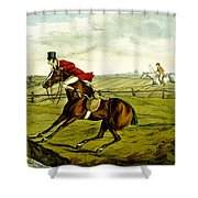 Stopping At Water From Qualified Horses And Unqualified Riders Shower Curtain