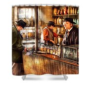 Store - Ah Customers Shower Curtain by Mike Savad