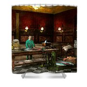 Store - Fish - C Lindenberg Hollieferont Fish Store Berlin Germany 1895 Shower Curtain
