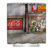 Store Front - Life Is Good Shower Curtain by Mike Savad