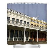 Store Fronts Old Sacramento Shower Curtain