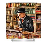 Store - In The General Store Shower Curtain by Mike Savad