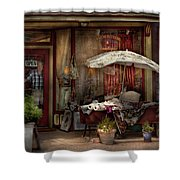 Storefront - Frenchtown Nj - The Boutique Shower Curtain by Mike Savad
