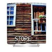 Storefront Rustic Shower Curtain