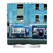Stores On Ossington In Blue Shower Curtain