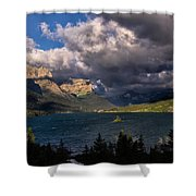 Storm Above St. Mary Lake Shower Curtain