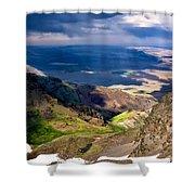 Storm Above The Alvord Desert Shower Curtain