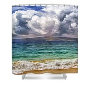Storm Across The Channel Shower Curtain