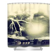 Storm And Flood Shower Curtain