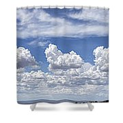Storm Approaching Panorama Shower Curtain