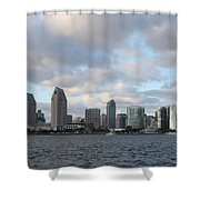 Storm Approaching San Diego  Shower Curtain