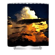 Storm At Dusk Shower Curtain by David Lee Thompson