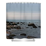 Storm At Sea In Rhode Island Shower Curtain
