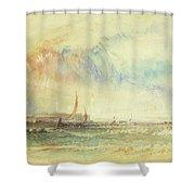 Storm At Sunset, Venice, C.1840 Shower Curtain