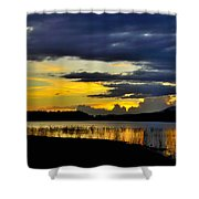 Storm At The Lake Shower Curtain
