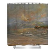 Storm At The Shore Shower Curtain