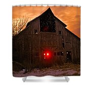 Storm Barn Shower Curtain