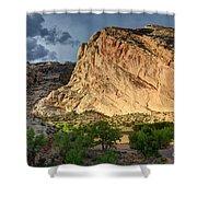 Storm Clouds Above Split Mountain Dinosaur National Monument Shower Curtain