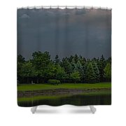 Storm Clouds And Trees Shower Curtain