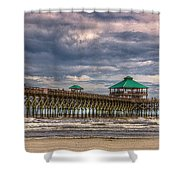 Storm Clouds Approaching - Hdr Shower Curtain