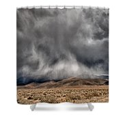 Storm Clouds Shower Curtain by Cat Connor