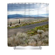 Storm Clouds Gathering Over Washington Hills Shower Curtain