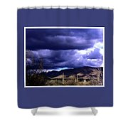 Storm Clouds In The Desert Shower Curtain