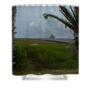Storm Clouds Near Port Lavaca Shower Curtain