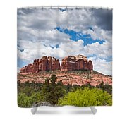 Storm Clouds Over Cathedral Rocks Shower Curtain