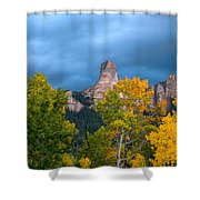 Storm Clouds Over Chimney Rock Shower Curtain
