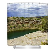 Storm Clouds Over Montezuma Well Shower Curtain