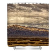 Storm Clouds Over Snowy Peaks #2 Shower Curtain