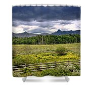 Storm Clouds Over The Rockies Shower Curtain