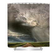 Storm Clouds Prairie Sky Saskatchewan Shower Curtain
