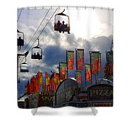 Storm Clouds Shower Curtain by Skip Willits