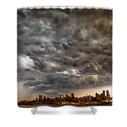 Storm Coulds Over Nyc Shower Curtain
