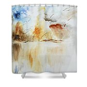 Storm Shower Curtain by Draia Coralia