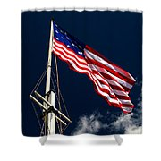 Storm Flag At Fort Mchenry Shower Curtain