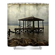 Storm In The Distance Shower Curtain